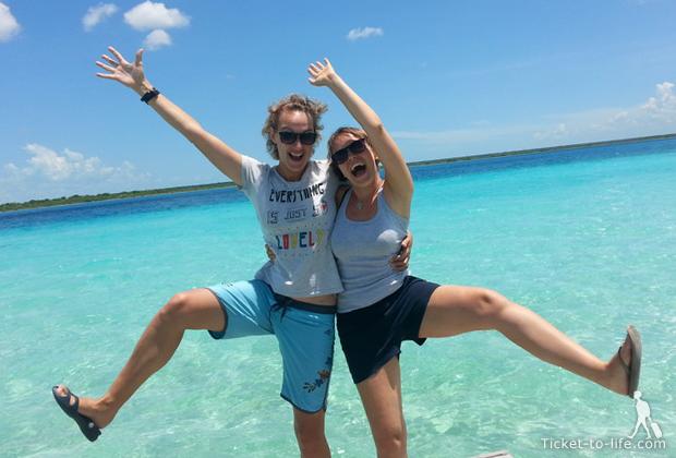 Путешествие по Мексике. Канкун. Самая красивая лагуна Бакалар